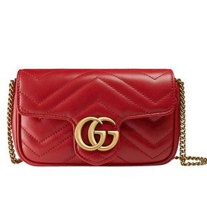 NEW Gucci Marmont Super Mini GG Leather Bag